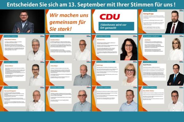 Unser Team                                                 zur Kommunalwahl am 13.September 2020